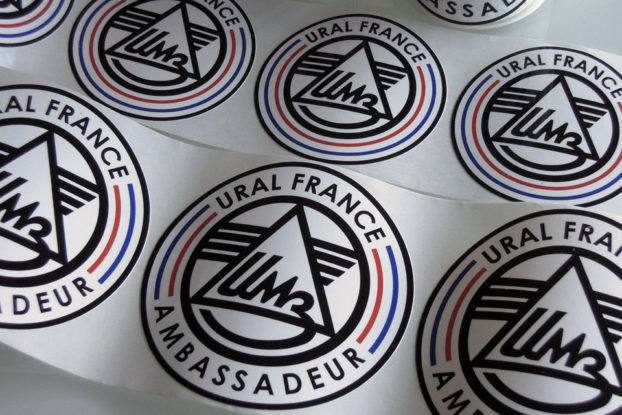 Autocollants URAL FRANCE et Ambassadeur URAL FRANCE