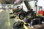 Usine Ural Irbit lot de side-cars en finition URAL FRANCE