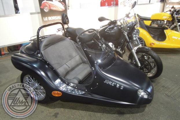 Moto Guzzi et panier Joke'R - 5ème Salon du Side-car - URAL FRANCE