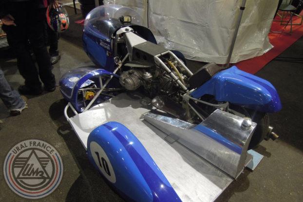Side-car classique bleu - 5ème Salon du Side-car - URAL FRANCE
